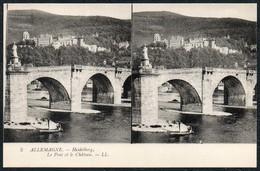 C6537 - TOP Stereo Foto Ansichtskarte - Heidelberg Schloß Und Brücke - Stereoskope - Stereobetrachter