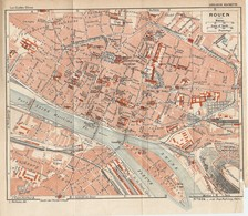 CARTE PLAN 1932 N° 634 - ROUEN CASERNES USINE à GAZ CIRQUE HOTEL DIEU - Cartes Topographiques