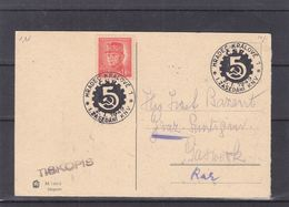 Tchècoslovaquie - Carte Postale De 1949 - Oblit Hradec Kralove - - Cecoslovacchia