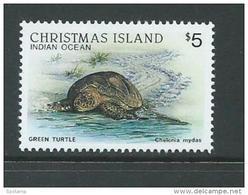 Christmas Island 1987 Wildlife Fauna Definitives $5 Turtle MNH - Christmas Island