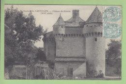 CASTILLON : Château Du Gravou. TBE. 2 Scans. Edition ? - Autres Communes
