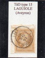 Aveyron - N° 21 Obl TàD Type 15 Laguiole - 1862 Napoléon III.