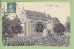 VILLENEUVE DE BLAYE : L'Eglise. TBE. 2 Scans. Edition Bergeon - Autres Communes