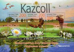 Kazakhstan 2015  (2014). Naurzum Nature Reserve. Fauna, Animals. Mi.#  Block64 (863-865) MNH - Kazajstán