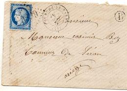 Aveyron - EnvSC Affr N° 60C Obl GC 3839 - Càd Type 17 Saint-Rome-du-Tarn - 1849-1876: Période Classique