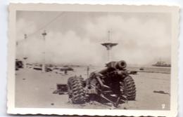 Foto Photo - Oorlog Guerre 1939 - 1945 - Zeebrugge - Strand - Plage - Kanon  - N°2 - Guerre, Militaire