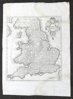 Antica Carta Geografica Dell'Inghilterra - Albrizzi 1730 Ca. - Altri