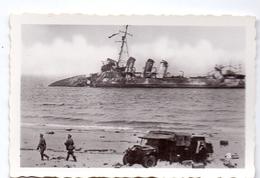 Foto Photo - Oorlog Guerre 1939 - 1945 - Zeebrugge - Strand - Plage - Gezonken Schip - N°3 - Guerre, Militaire