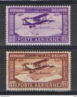 EGITTO:  1926/29  P.A. AEREO  IN  VOLO  -  S. CPL. 2  VAL. L. -  YV/TELL. 1/2 - Posta Aerea