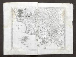Antica Carta Geografica Del Territorio Senese - Albrizzi 1730 Ca. - Altri