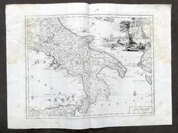 Antica Carta Geografica Del Regno Di Napoli - Albrizzi 1730 Ca. - Altri