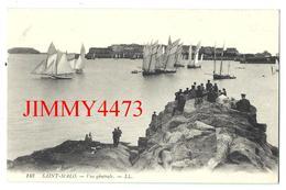 CPA - Voiliers Et Vue Générale, Bien Animée - SAINT MALO 35 Ille Et Vilaine -  L L  N° 143  - Scans Recto-Verso - Saint Malo