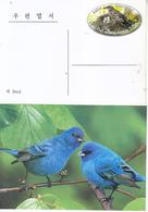 North Korea 2016 White's Thrush Postal Pre-stamped Card - Cuckoos & Turacos