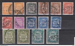 EGITTO:  1926/35  SERVIZIO  -  INSIEME  15  VAL. US. -  YV/TELL. 35//46 - Servizio