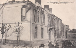 CPA AY (51) LES EMEUTES EN CHAMPAGNE (AVRIL 1911) - LE BOULEVARD DU NORD - Ay En Champagne
