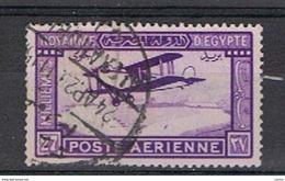 EGITTO:  1947  P.A. AEREO  IN  VOLO  -  27 M. VIOLETTO  VIVO  US. -  YV/TELL. 1 - Poste Aérienne