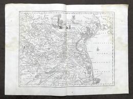 Antica Carta Geografica Del Territorio Padovano - Albrizzi 1730 Ca. - Altri