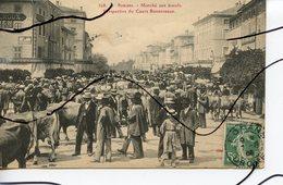 CPA . D26. ROMANS. MARCHE AUX BOEUFS. Perspective Du Cours BONNEVEAUX - Romans Sur Isere