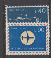 Italy Republic S 1009-1010 1965 Night Air Postal Network,mint Never  Hinged - 1961-70: Mint/hinged