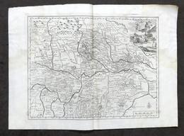 Antica Carta Geografica Del Ducato Di Mantova - Albrizzi 1730 Ca. - Altri