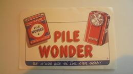 Buvard Pile Wonder - Baterías