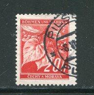 BOHEME ET MORAVIE- Y&T N°22- Oblitéré - Used Stamps