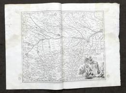 Carta Geografica Dei Territori Di Pavia Di Lodi E Di Piacenza - Albrizzi 1730 Ca - Altri