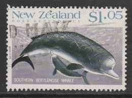 New Zealand 1988 Whales 1.05 $ Multicoloured SW 1081 O Used - New Zealand