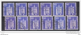 SVIZZERA:  1960/63  DEFINITIVA  -   50 C. OLTREMARE  US. -  RIPETUTO  12  VOLTE  -  YV/TELL. 651 - Switzerland