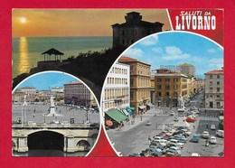 CARTOLINA NV ITALIA - Saluti Da LIVORNO - Vedutine Multivue - 10 X 15 - Saluti Da.../ Gruss Aus...