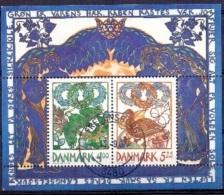 DENEMARKEN 1999 Blok Voorjaar GB-USED - Gebraucht