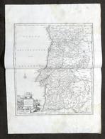 Antica Carta Geografica Del Regno Di Portogallo - Albrizzi 1730 Ca. - Altri