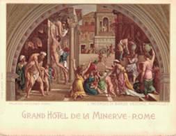 GRAND HOTEL DE LA MINERVE ROME SITUEE DANS LA PARTIE LA PLUS SAINE DE ROME - Cartes De Visite
