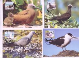 WWF - PITCAIRN ISLANDS - 2007 -SEABIRDS  SET OF 4 MAXI CARDS - Maximum Cards