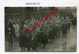 DIEUZE-Parade-Musique-1911-CARTE PHOTO-France-57-militaria- - Dieuze