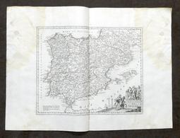 Nuova Carta Geografica Della Spagna - Albrizzi 1730 Ca. - Altri