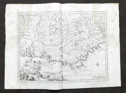 Antica Carta Geografica Del Governo Della Provenza - Albrizzi 1730 Ca. - Altri
