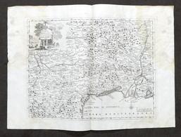 Carta Geografica Del Governo Della Linguadocca - Linguadoca - Albrizzi 1730 Ca. - Altri