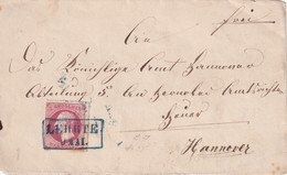 HANNOVER  ENTIER POSTAL/GANZSACHE/POSTAL STATIONERY  DEVANT DE LETTRE DE LEHRTE - Hannover