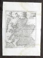 Antica Carta Geografica Della Scozia - Albrizzi 1730 Ca. - Altri