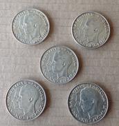 Monnaie. 4. Cinq Monnaies De Baudouin Et Fabiola. 50 Francs En Argent - 1951-1993: Baudouin I