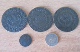 Turquie / Empire Ottoman - 5 Monnaies Dont 3 De 5 Kurush 1223 (Version 1833) En Bas Billon - Turquia