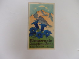 Dépliant Sur Wengernalp-Jungfrau-Bahn Berner-Oberland Suisse. - Folletos Turísticos