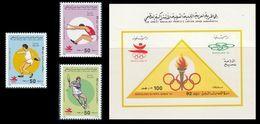 LIBIA 1992 LIBYA - OLYMPICS BARCELONA -YVERT Nº 1816AE-AF-AG + HB 81C MICHEL 1926-28 + BLOCK 127 - SCOTT 1429-31+SS 1432 - Libia