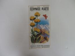 Dépliant Sur Schynice Platte Berner Oberland-Bahnen Interlaken Suisse. - Dépliants Touristiques
