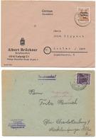 Lot De 2 Enveloppes (Allemagne) Datées De 1948  - Une De La Zone Soviétique - Zone Soviétique