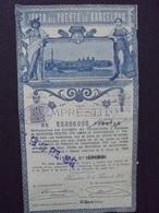 ESPAGNE- BARCELONE 1908 - EMPRUNT - PAS DE COUPONS - TITRE EN L'ETAT - Actions & Titres