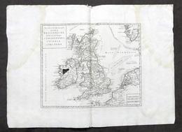 Nuova Carta Geografica Isole Britanniche - Gran Bretagna - Albrizzi 1730 Ca. - Altri