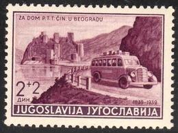 """Jugoslavija 1939: """"Autobus & Castle Omnibus & Château"""" Michel-No. 373 ** MNH (Michel 5.00 Euro) Out Of Set! - Bussen"""