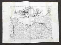 Antica Carta Geografica Del Governo Della Normandia - Albrizzi 1730 Ca. - Altri